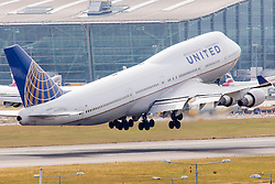© under license to London News Pictures.FILE PHOTO United Boeing 747 Aircraft at London Heathrow<br /> <br /> Photo credit should read IAN SCHOFIELD/LNP