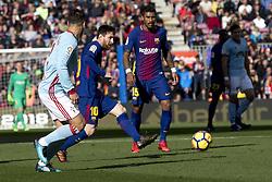 December 2, 2017 - Barcelona, Catalonia, Spain - Leo Messi during the spanih league match between FC Barcelona and RC Celta de Vigo at the Camp Nou Stadium in Barcelona, Catalonia, Spain  (Credit Image: © Miquel Llop/NurPhoto via ZUMA Press)