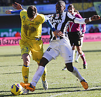 Marco Andreolli Chievo, Paul Pogba Juventus. 3/2/2013 <br />