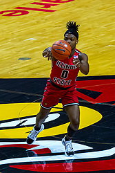 NORMAL, IL - February 27: DJ Horne during a college basketball game between the ISU Redbirds and the Northern Iowa Panthers on February 27 2021 at Redbird Arena in Normal, IL. (Photo by Alan Look)