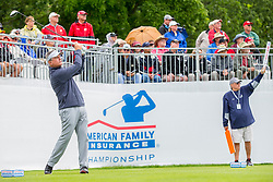 June 22, 2018 - Madison, WI, U.S. - MADISON, WI - JUNE 22: Paul Goydos tees off on the first tee during the American Family Insurance Championship Champions Tour golf tournament on June 22, 2018 at University Ridge Golf Course in Madison, WI. (Photo by Lawrence Iles/Icon Sportswire) (Credit Image: © Lawrence Iles/Icon SMI via ZUMA Press)