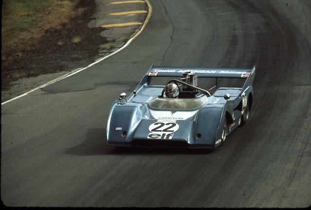Francois Cevert, winner of the 1972 Donnybrooke Can-Am (McLaren M8F)