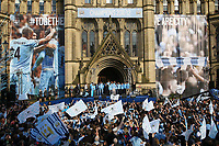 Football - Premier League - Manchester City Premier League Trophy Parade<br /> The crowd join Manchester City in a chorus of 'We are the champions'