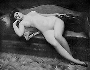 Farniente [Idleness] by Gabriel de Cool from Le Nu au Salon 1908 A collection of Nude photography published in Paris in 1908 by Société nationale des beaux-arts (France). et Société des artistes français. Catalogs of nudes exhibited at the official Paris Salons. Some years have two parts: The Salon held at the Champs Élysées sponsored by the Société des artistes français and the Salon held at the Champ de Mars sponsored by the Société nationale des beaux-arts