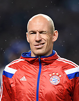 Fotball<br /> UEFA Champions League<br /> Foto: imago/Digitalsport<br /> NORWAY ONLY<br /> <br /> FUSSBALL CHAMPIONS LEAGUE SAISON 2014/2015 Vorrunde Manchester City - FC Bayern München 25.11.2014 Arjen Robben (FC Bayern München) zwinkert