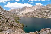 Sapphire Lake. John Muir Trail/Pacific Crest Trail; Sequoia Kings Canyon Wilderness; Kings Canyon National Park; Sierra Nevada Mountains, California, USA.