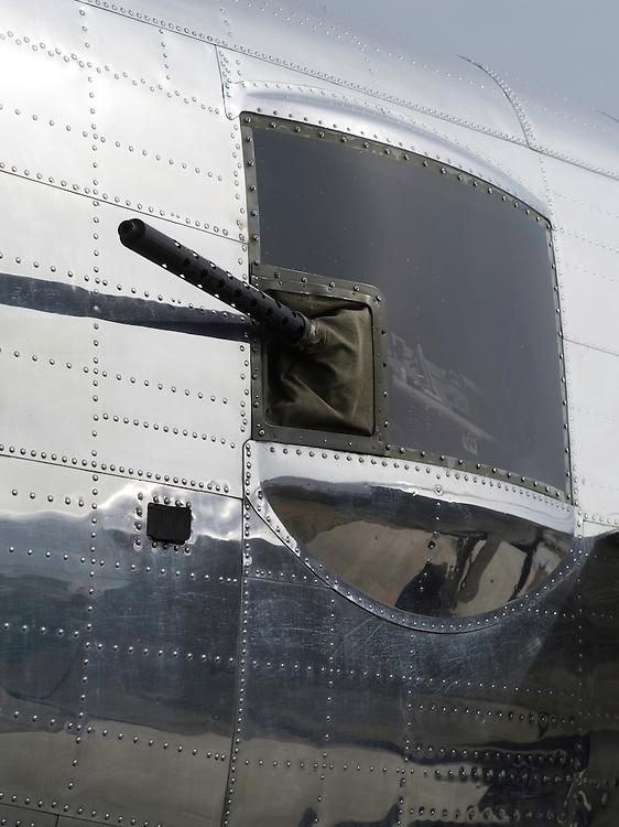 Side machine gun, likely of a Mitchell B-25; EAA Airventure airshow, Oshkosh, Wisconsin.