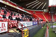 Fans are back at Charlton Athletic ground, The Valley during the EFL Sky Bet League 1 match between Charlton Athletic and AFC Wimbledon at The Valley, London, England on 12 December 2020.