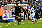 Liam Trotter (14) of AFC Wimbledon on the attack chased by Tom Nichols (11) of Bristol Rovers during the EFL Sky Bet League 1 match between Bristol Rovers and AFC Wimbledon at the Memorial Stadium, Bristol, England on 18 November 2017. Photo by Graham Hunt.