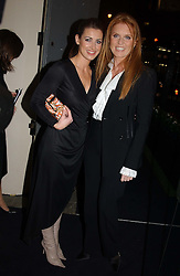 Left to right, tv presenter KIRSTY GALLACHER and SARAH, DUCHESS OF YORK<br />