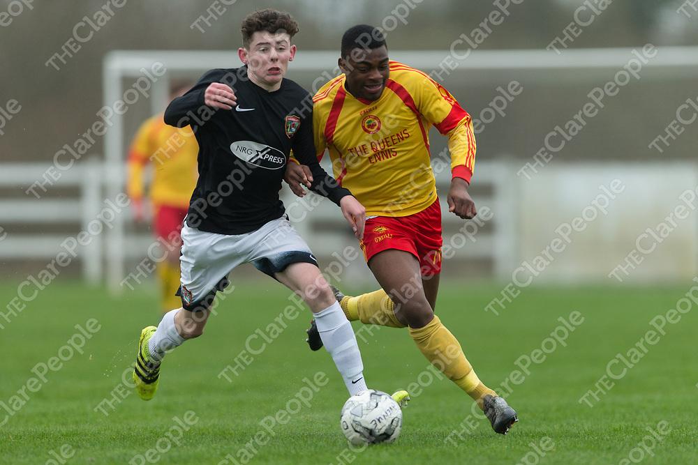 Leeside Utd's Robert O'Connor V Avenue Utd's Ikem Ugwueru