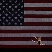 Olympic gymnast McKayla Maroney in action on the beam during a final training session before the start of The 2013 P&G Gymnastics Championships, USA Gymnastics' national championships which runs from Thursday until Sunday at the XL, Centre, Hartford, Connecticut.<br /> The event features gymnasts in both the junior and senior divisions. Performances will determine all-around and individual event national champions, as well as the national team for the junior and senior elite levels. Hartford, Connecticut, USA. 14th August 2013. Photo Tim Clayton
