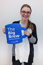 "© Licensed to London News Pictures . 19/01/2015 . Liverpool , UK . Amy Kelly from Coronation Street . Celebrities pose with "" Big Brew "" placards in support of mental health awareness as today (19th January 2015) marks "" Blue Monday "" , the day regarded by many as the most depressing in the year . Campaigners are urging the public to show support by tweeting sefies with their favourite brew and the hashtag "" #brewfie "" . In London , Deputy Prime Minister Nick Clegg , is announcing his campaign to improve mental health awareness , reduce stigma and promote a "" zero ambition "" target for suicide . Photo credit : Joel Goodman/LNP"