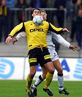 Football, Tippeligaen 29. april 2001. Lillestrøm - Sogndal 4-1. Clayton Zane, Lillestrøm.