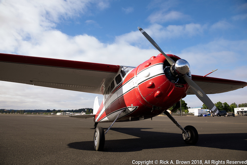 Cessna 195 at Warbirds Over the West.