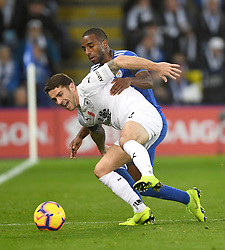 during the Premier League match at the King Power Stadium, Leicester.