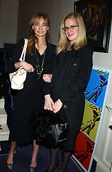 Left to right, MISS CLEMENTINE HAMBRO and MISS CAMILLA LONG at a Conservative Party Reception for the Art held at 24 Thurloe Square, Lndon SW7 on 5th April 2005.<br /><br />NON EXCLUSIVE - WORLD RIGHTS