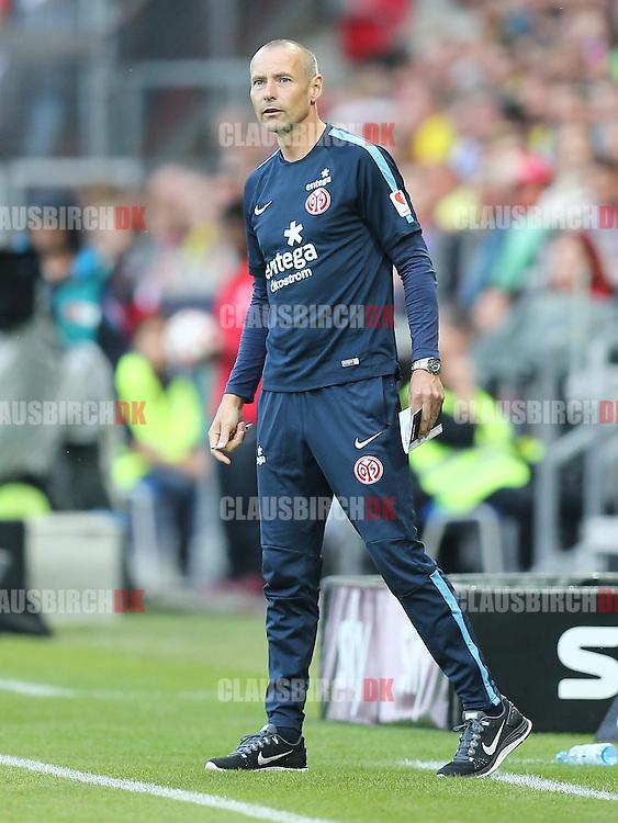 FOOTBALL: Assistant Coach Flemming Pedersen (1. FSV Mainz 05) during the Bundesliga match between 1. FSV Mainz 05 and Borussia Dortmund at Coface Arena on September 20, 2014 in Mainz, Germany. Photo: Claus Birch.