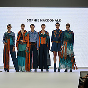 Designer Sophie Macdonald showcases lastest collection of Bath Spa University at the Graduate Fashion Week 2018, 4 June 4 2018 at Truman Brewery, London, UK.