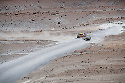 Sebastien Loeb and Daniel Elena in the Peugeot 3008 of the PH-Sport breaking a dune during stage 4 of the Dakar Rally, between Arequipa and Tacna, Peru, on January 10, 2019. // Florent Gooden / DPPI / Red Bull Content Pool  // AP-1Y3CGAVD92111 // Usage for editorial use only // Please go to www.redbullcontentpool.com for further information. //