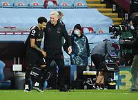 Football - 2020 / 2021 Premier League - Aston Villa vs West Ham United - Villa Park<br /> <br /> West Ham United manager David Moyes with double goal scorer Jesse Lingard.<br /> <br /> COLORSPORT/ASHLEY WESTERN