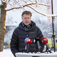Ask 20210102. <br /> Ordfører Anders Østensen i Gjerdrum under en prsseorientering lørdag i forbindelse med jordraset i Gjerdrum. <br /> Foto: Tor Erik Schrøder / NTB