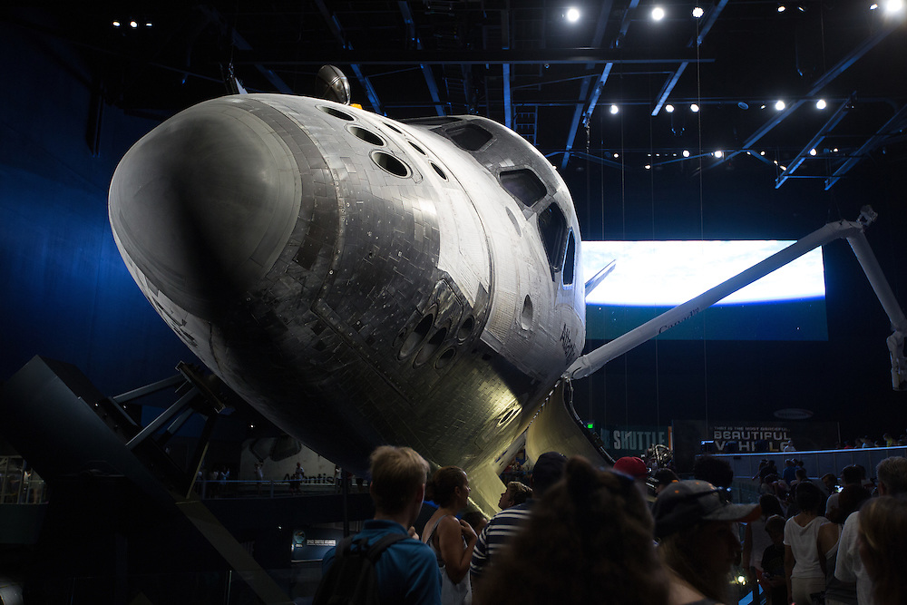 Space Shuttle Atlantis on display at the Kennedy Space Center visitor's center.  8/12/2016 Photo by John O'Boyle