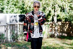 Street style, Chris Clavish arriving at Manish Arora spring summer 2019 ready-to-wear show, held at Pavillon Ledoyen, in Paris, France, on September 27th, 2018. Photo by Marie-Paola Bertrand-Hillion/ABACAPRESS.COM