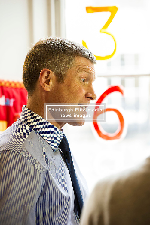 Pictured: Willie Rennie<br /> <br /> Scottish Liberal Democrat leader Willie Rennie marked the first full day of campaigning for the Scottish Election by visiting  the New Town Nursery in Edinburgh. He was joined by Edinburgh Western candidate Alex Cole-Hamilton as the children were enjoying a lively morning<br /> <br /> Ger Harley | EEm 23 March 2016