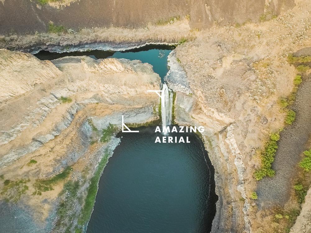 Aerial view of Palouse Falls in Washington, USA.