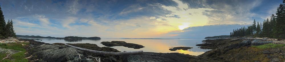 Sunset, Nautlius Island, Castine, Maine, US
