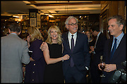VICKY WARD; RICHARD COHEN, Book party for 'The Liar's Ball' by Vicky Ward hosted by  Sir Evelyn  de Rothschild at Henry Sotheran's, 2 Sackville Street London. 25 November 2014