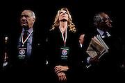 Gabriella Carlucci durante il congresso nazionale dell' Udc (Unione di Centro) all'Auditorium Conciliazione. Rome, 21 febbraio 2014. Christian Mantuano / OneShot