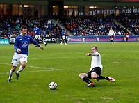 Fotball , 28. april 2012, Tippeligaen Eliteserien , Sogndal - Molde<br /> <br /> Foto: Christian Blom , Digitalsport Even Hovland, Molde. Ørjan Hopen, Sogndal