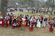 Assumption Church, enacts a live Stations of the Cross on Good Friday at Depew Park in Peekskill, New York.