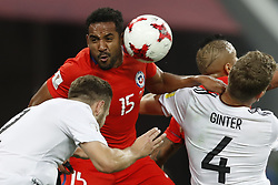 July 3, 2017 - Saint Petersburg, Russia - Jean Beausejour (#15) of Chile national team during FIFA Confederations Cup Russia 2017 final match between Chile and Germany at Saint Petersburg Stadium on July 2, 2017 in Saint Petersburg, Russia. (Credit Image: © Mike Kireev/NurPhoto via ZUMA Press)