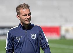 Anders Holst (FC Helsingør) under træningskampen mellem FC Helsingør og HIK den 1. august 2020 på Helsingør Ny Stadion (Foto: Claus Birch).