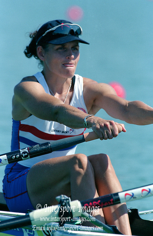 St Catherines, CANADA,  Women's   Double Sculls. GBR W2X. Bow, Miriam BATTEN  and  Gillian LINDSAY, competing,  1999 World Rowing Championships - Martindale Pond, Ontario. 08.1999..[Mandatory Credit; Peter Spurrier/Intersport-images]  . 1999 FISA. World Rowing Championships, St Catherines, CANADA