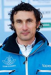 Coach Peter Jost at Official photo of  Slovenia Ski jumping team for  European Youth Olympic Festival (EYOF) in Liberec (CZE) at official presentation, on February  9, 2011 at Bled Castle, Slovenia. (Photo By Vid Ponikvar / Sportida.com)