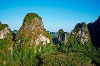 Thailande, province de Krabi, payasage vers Ao Phra Nang // Thailand, Krabi province, Ao Phra Nang landscape