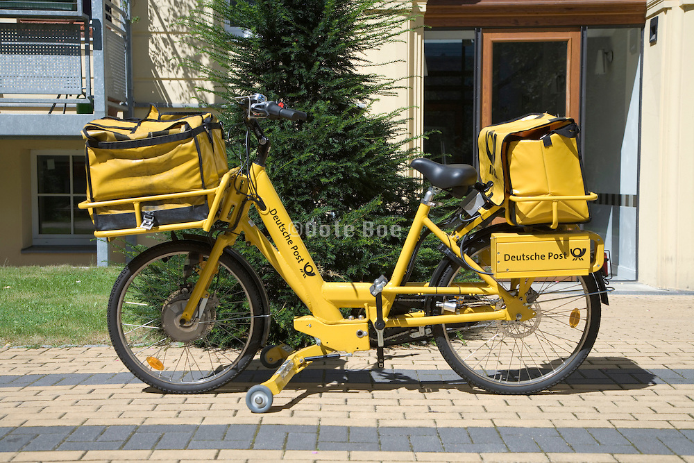 German Post mail delivery bicycle Berlin