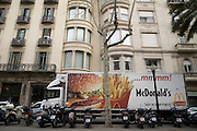 McDonald's delivery truck, Barcelona, Spain.