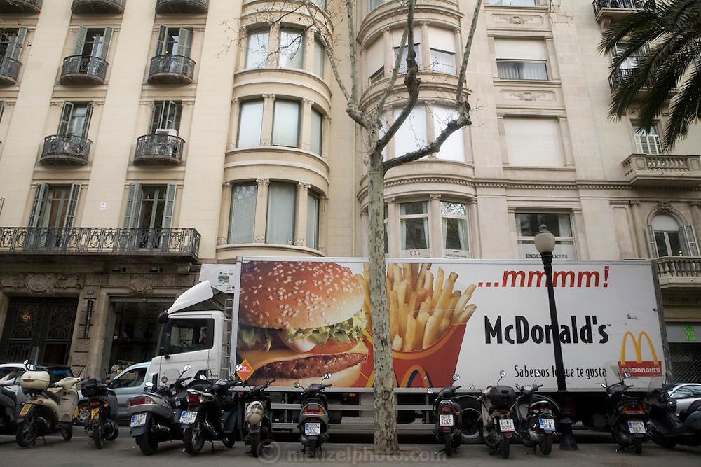McDonald's delivery truck, Barcelona, Spain.