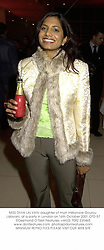 MISS DIVIA LALVANI daughter of multi millionaire Goulou Lalavani, at a party in London on 16th October 2001.OTD 57