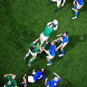Ireland win a line out during the Ireland V Italy Pool C match during the IRB Rugby World Cup tournament. Otago Stadium, Dunedin, New Zealand, 2nd October 2011. Photo Tim Clayton...