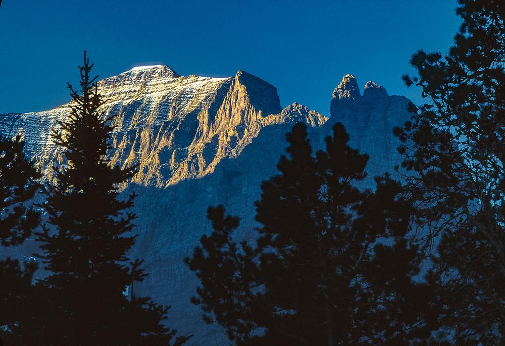 Little Chief Mountain, autumn, Glacier National Park, Montana, USA