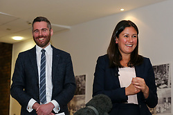 © Licensed to London News Pictures. 13/01/2020. London, UK. Member of the London Assembly, TOM COPLEY and Labour Party leadership candidate LISA NANDY in East London at the launch of LISA NANDY's campaign for Leader of the Labour Party. Photo credit: Dinendra Haria/LNP