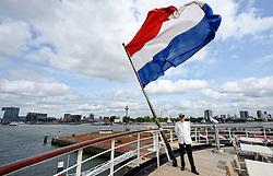 20150618 NED: WK Beach volleybal speelsteden, Rotterdam<br /> De bouw van het beachstadion in Rotterdam is gestart. Van 26 juni tot 2 juli wordt bij de SS Rotterdam het WK Beachvolleybal gehouden / Gastheer Ruud van de SS Rotterdam verheugd zich op het event