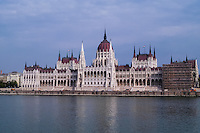 Budapest, Hungary.  The Hungarian Parliament Building.