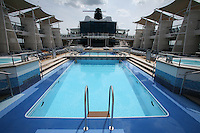 Celebrity Silhouette. Celebrity cruises' new ship launched in Hamburg 21st July 2011..Interior feature photos..Pool Deck..